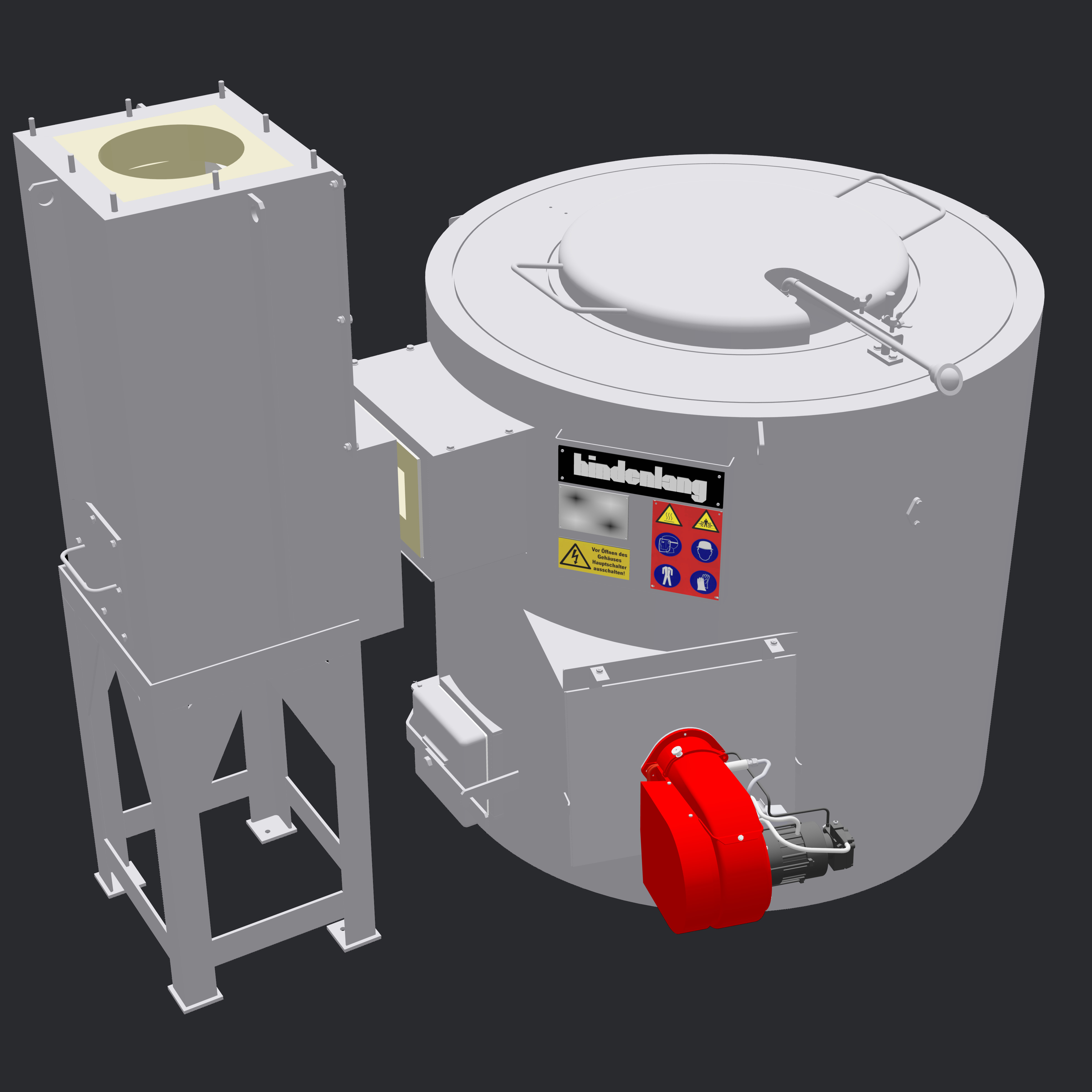 Stationary Crucible Furnace Fuel Heated Hindenlang En